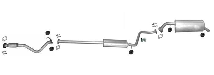 Auspuff für Hyundai Getz 1.1 12V Schrägheck 2005-2009