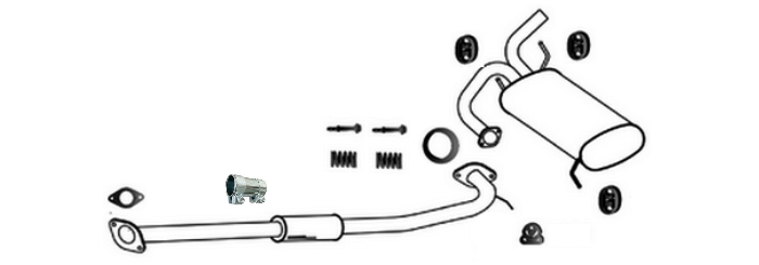 Nissan X-Trail 2.2 dCi TD 09/2003-12/2006 exhaust system