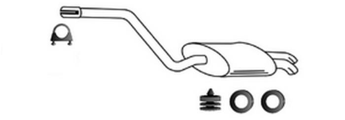 Auspuff Mercedes W201 190 2.0 2.3 2.6 E 1991-1993
