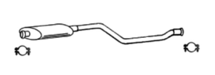 Pour Xsara ZX 2.0 16V Peugeot 306 2.0 8V 16V silencieux