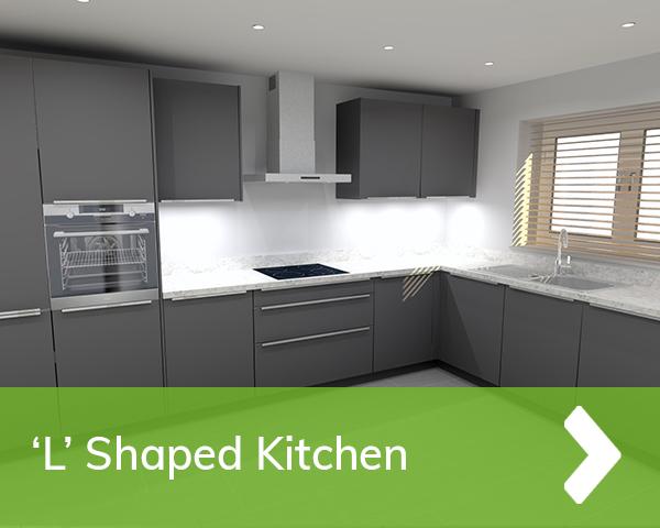 German Kitchen - L Shaped Cardiff