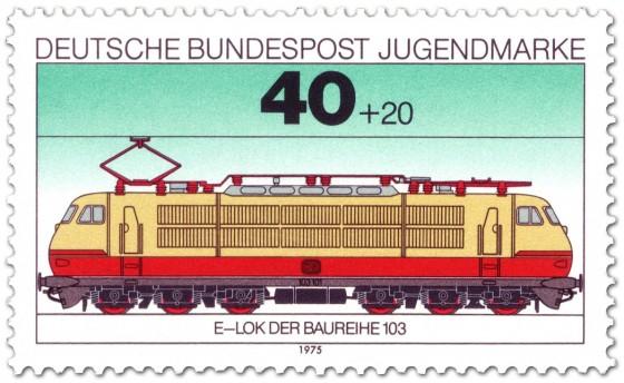 Eisenbahn: Elektrolokomotive Baureihe 103. german stamp 1975