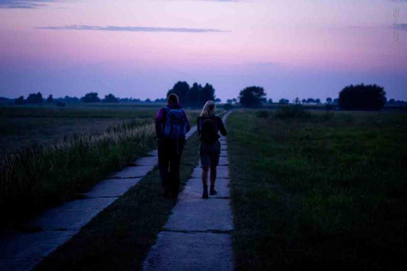 German-Trail Wandern am Morgen