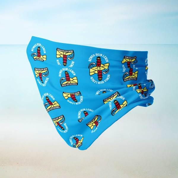 Dein Ostseeweg-Schlauch-Tuch Cyan Logo Seite