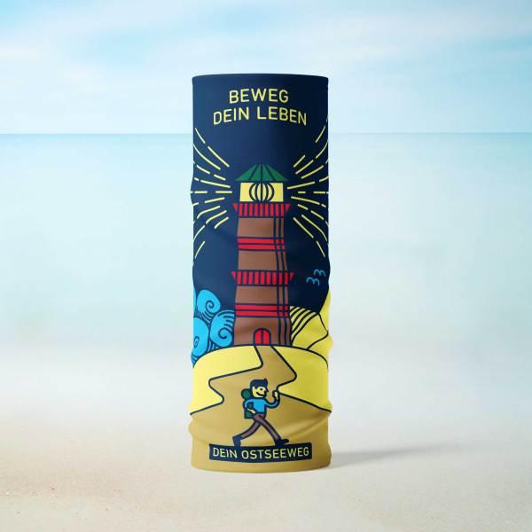 Dein Ostseeweg Schlauch-Tuch Blau Blue Stehend Leuchtturm Strand
