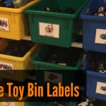 How To Make Printable Labels For Toy Storage Bins German Pearls