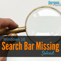 Solved: Windows 10 Search Bar Missing