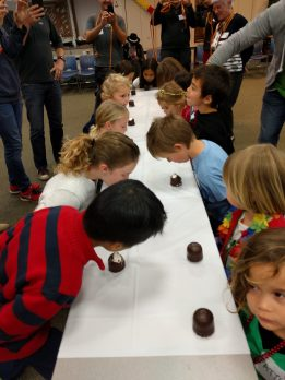 Marshmallow eating contest