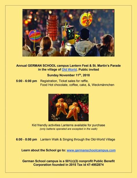 2018 Annual German School campus Lantern Fest