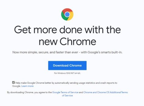 Follow instruction to download and install Google Chrome