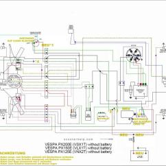Lambretta Wiring Diagram With Indicators Household Light Switch Px Batterienachrüstung Lima Spannung Vespa T5