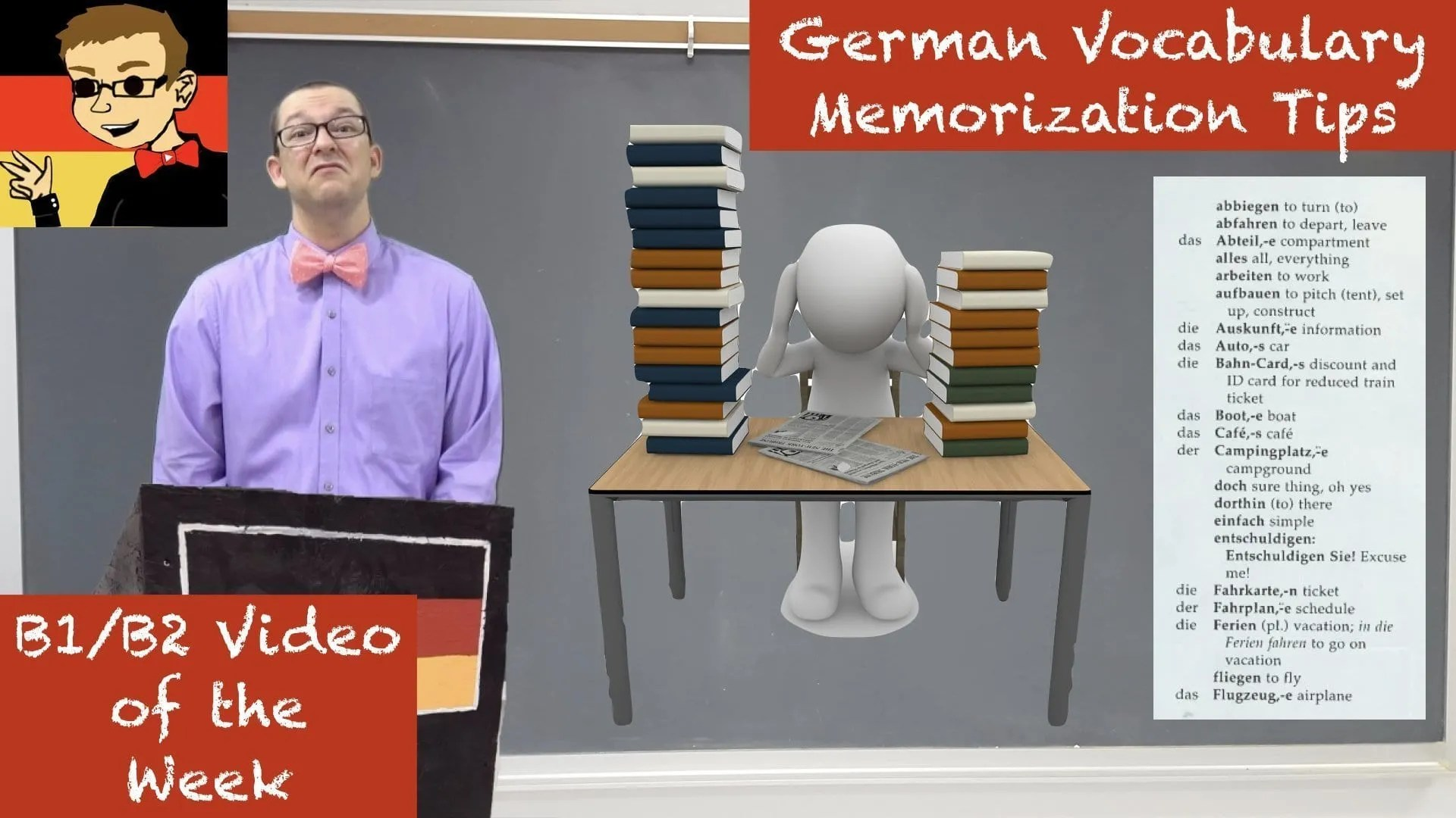 German Vocabulary Memorization Tips