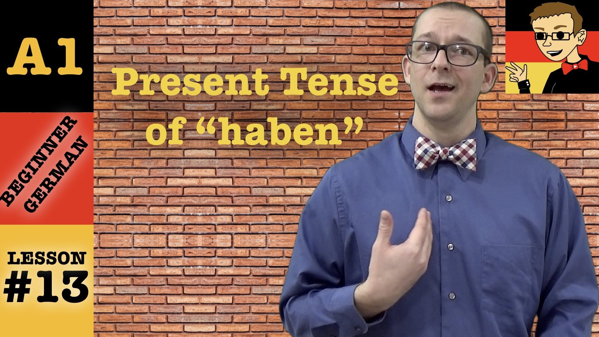 Haben Conjugation In The Present Tense