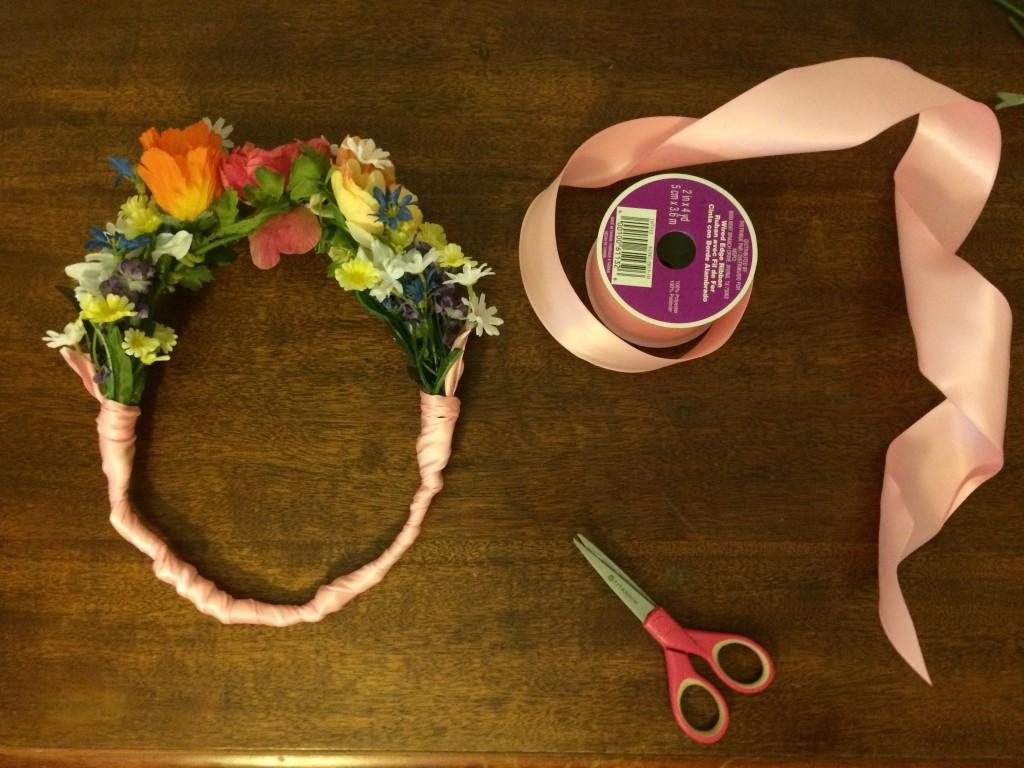 flower crown ribbon