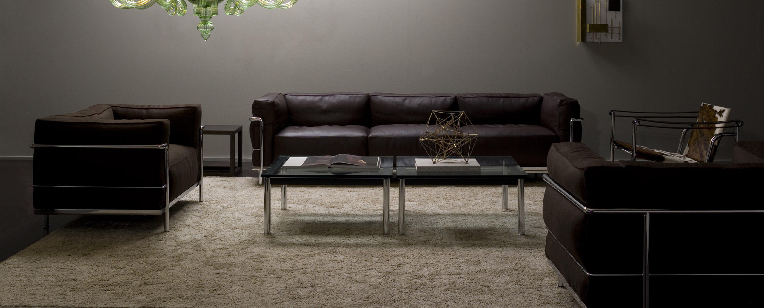 living rooms with black leather sofas home decor ideas for room images lc3 cassina le corbusier