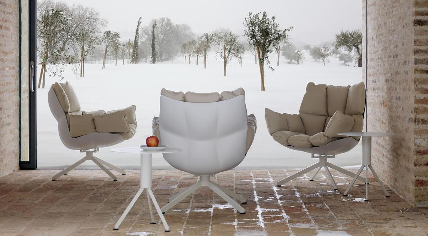 quilted swivel chair baby shower rental boston ma husk outdoor b&b italia - sofas ...