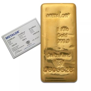buy 1 kilo gold bar metalor