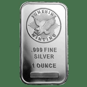1 ounce silver bar sunshine mint