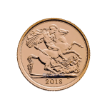 2018 half gold sovereign obverse