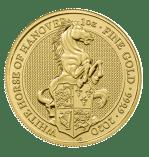 1oz-queen-beast-white-horse-hanover-gold-coin-2020-obverse