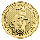 2021-Queen-Beasts-White-Greyhound-of-Richmond-Gold-1-4oz-Coin-reverse