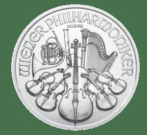 2021 1oz Silver Philharmonic Coin reverse