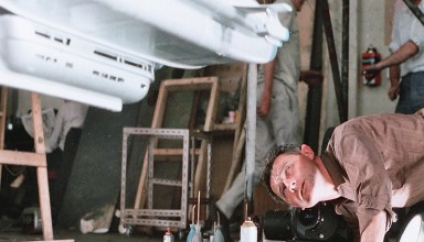 Derek Meddings works on Skyship 1