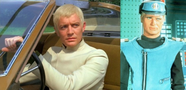 Ed Bishop as Ed Straker (left) and Captain Blue (right)