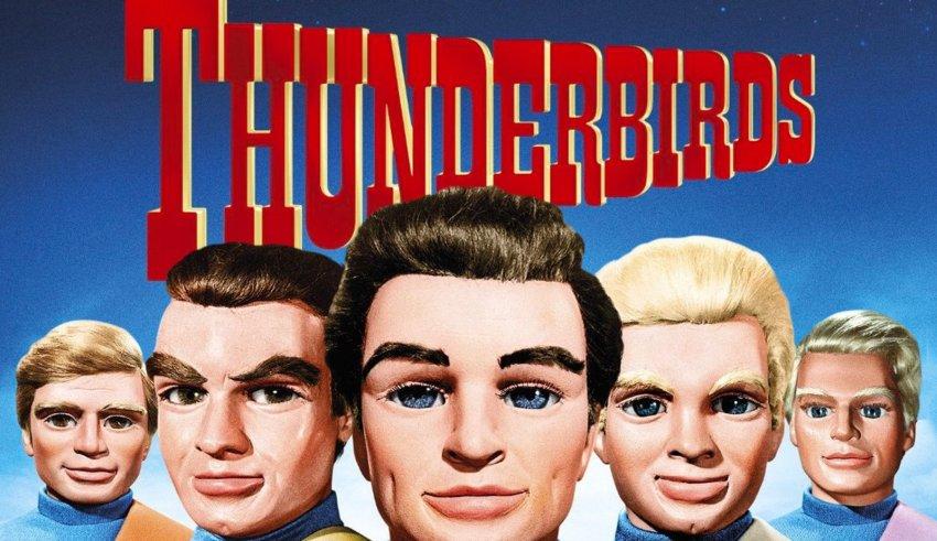 Thunderbirds gerry anderson - the Tracy brothers and Thunderbirds logo