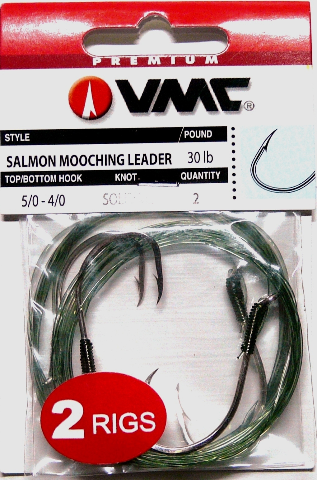 30 black snelled hooks stainless steel wire leaders 60 lbs strength 7//0 or 8//0