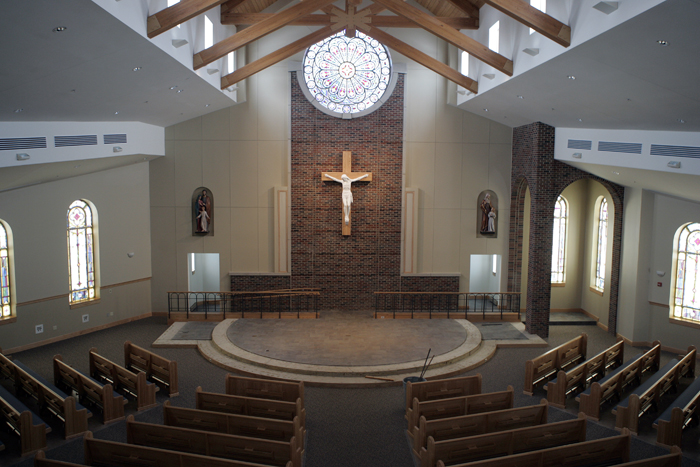 A view of the new St. Anne Catholic Church from the balcony. (C-T photo Max Gersh) ©2010