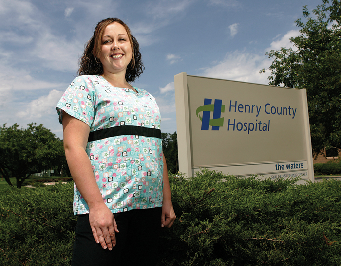 Lindsay Brown has been working at Henry County Hospital for almost five years, currently working in the emergency room as a nurse. (C-T photo Max Gersh) ©2010