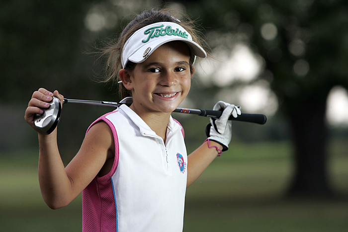 At age 7, Yanah Rolston has been playing golf for four years. Rolston has won 12 U.S. Kids tour events over the last three years. She qualified for the Callaway Junior World Golf Championship at Torrey Pines and finished 26th out of 48 golfers from around the world at Pinehurst, which had 19 participants from foreign countries. (C-T photo Max Gersh) ©2010