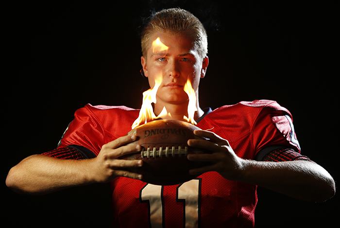 Jace Bankord, 17, quarterback for Belvidere North