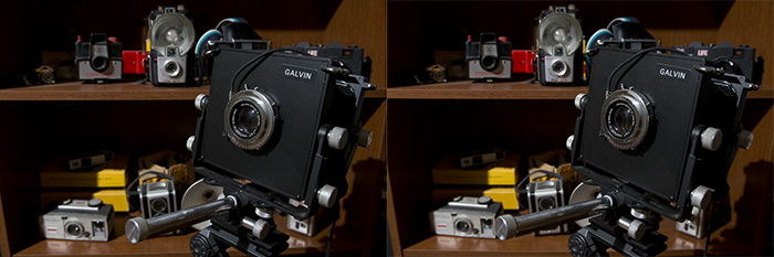 Two view cameras