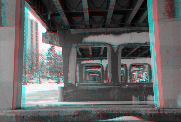 The underside of the Whitman Street Bridge. ©2014 Max Gersh