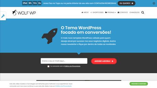 tema premium WordPress em português