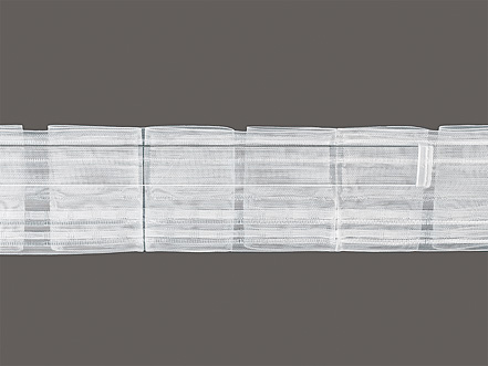flat pleated rod insertion tape for