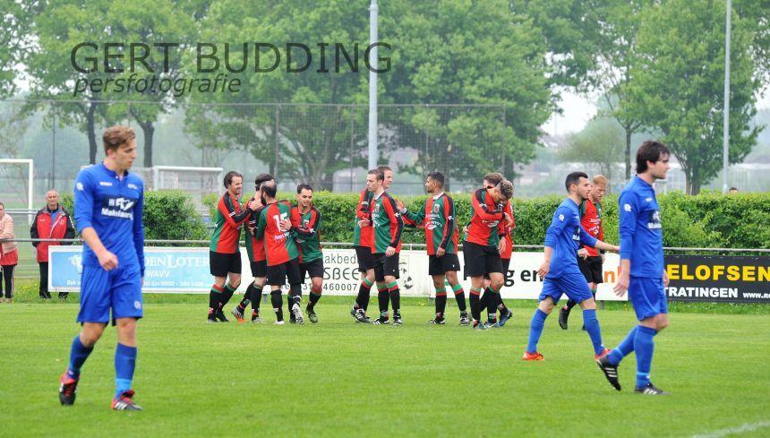 WAVV behoudt na zege op Germania (3-0) kans op kampioenschap