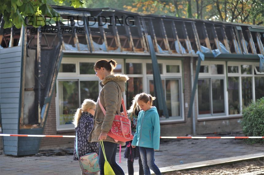 Kleuters dag vrij na brand Albert Schweitzerschool