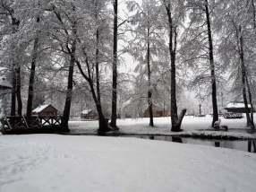 Etnografinė sodyba Gervių giesmė. Žiema.
