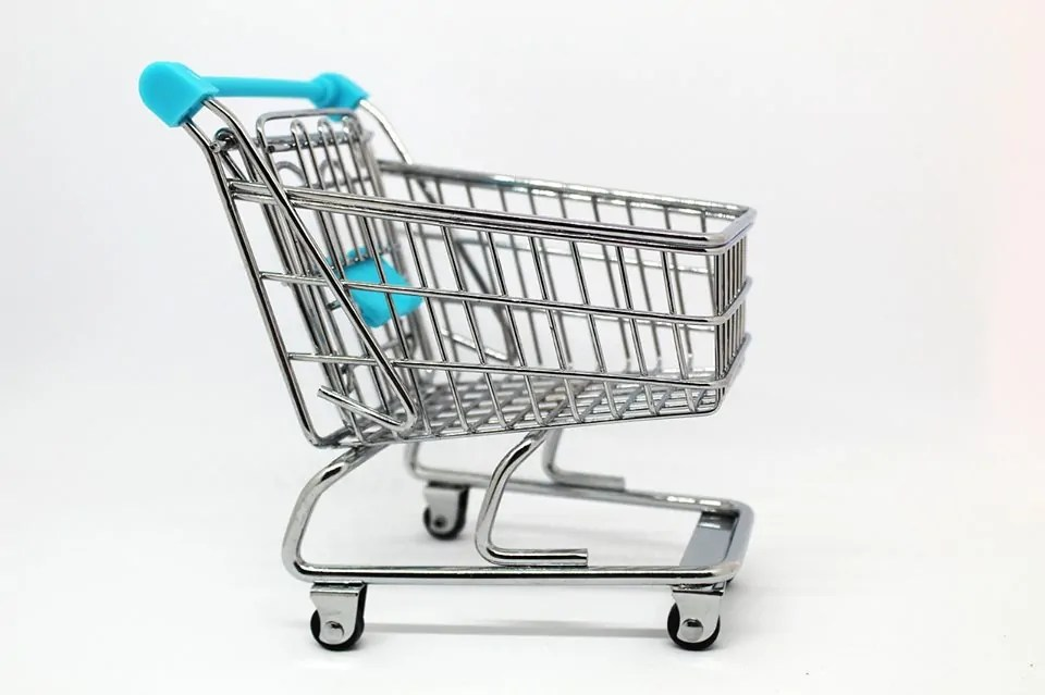 grocery cart for shopping