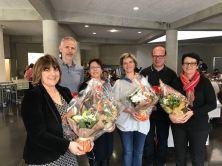 Jury und französische Kolleginnen freuen sich über den gelungenen Event