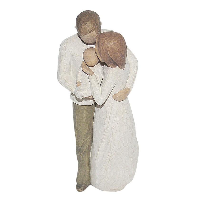 Figur Paar Familie mit Baby Our Gift von Willow Tree