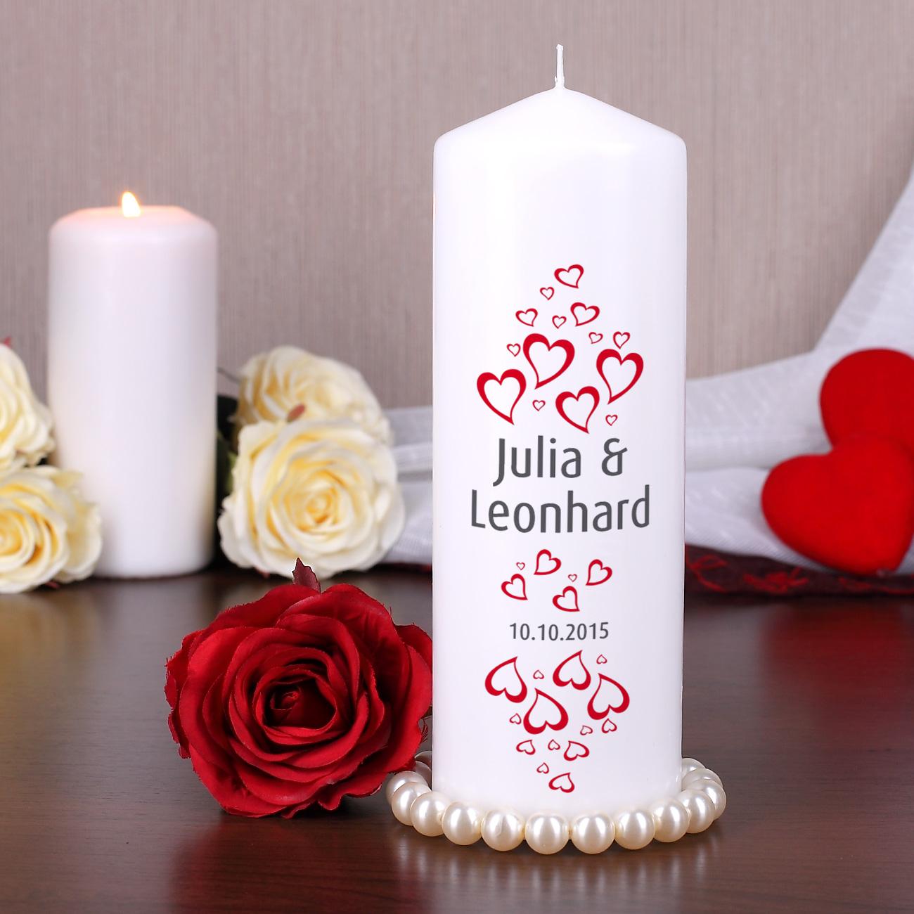 Bedruckte Kerzen  Taufe Hochzeit Geburtstag  Anlass