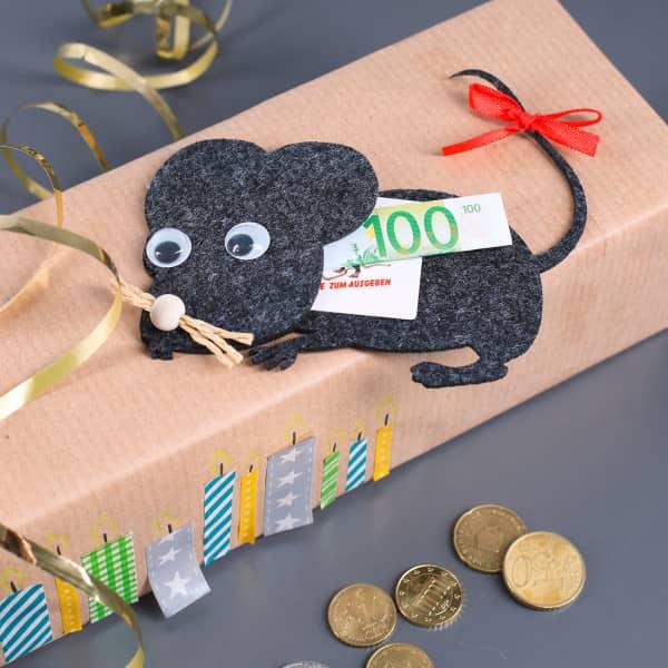 Geldgeschenk als Maus