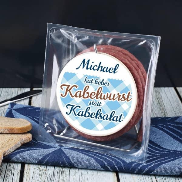 Mini Kabeltrommel mit Snack Wurst