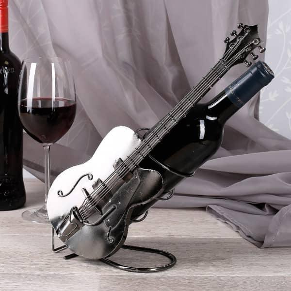 Flaschenhalter aus Metall  Gitarre