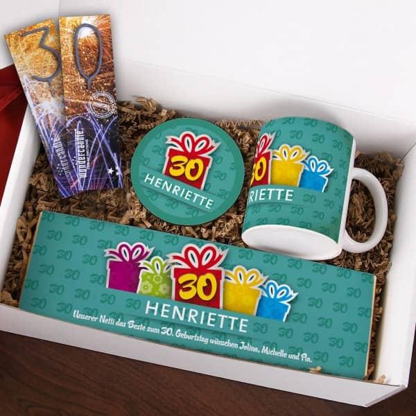 Gefllte Geschenkbox  zum 30 Geburtstag  geschenke