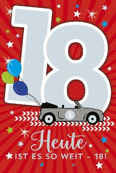 Depesche Geburtstagskarte 18Geburtstag mit Musik